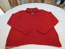 Polo Ralph Lauren sweater pull over shirt large 0186183 red classics05 Men's