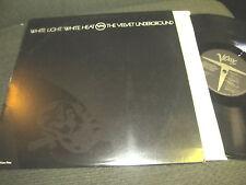 Velvet Underground White Light / Heat LP Ghost verve NM w/info photo inner '85!