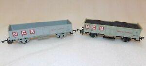 2 Lima OO Gauge NCB Coal Wagons