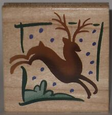 Stampendous Rubber Stamp - Leaping Reindeer - Christmas