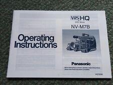 Panasonic MV-M7B Vhs Camera Instruction Manual