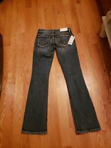 Silver Jeans Suki Mid Rise Curvy Fit Bootcut Leg Blue Jeans 27X35 tall $99retail