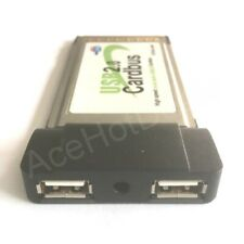 PCMCIA 2 Ports USB 2.0 HUB Cardbus adapter for laptop Notebook