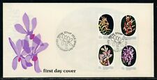 Singapore Scott #247-250 FIRST DAY COVER Orchids Flowers FLORA $$