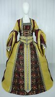 MEDIEVAL RENAISSANCE TUDOR WEDDING HANDFASTING LARP GOWN DRESS COSTUME (22E)
