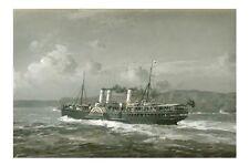 NEWCASTLE Australian Paddle Steamer 3 Funnels Allcot Art Digital Postcard Modern