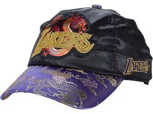 Mitchell & Ness Los Angeles LAKERS Chinese New Year CNY 🐉 SATIN HAT Strap Back