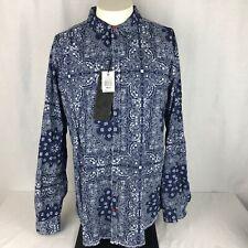 New TRANQUILITY MAYHEM Mens XL Contrast Button Up Cuffs Long Sleeve Shirt NWT