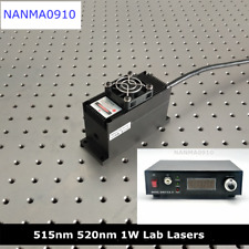 LAB 1W 515nm 520nm Green Laser Module + TTL + TEC Cooling + PS-II Power Supply