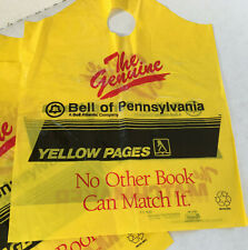 vintage bell of PA yellow pages telephone book plastic home delivery bag lot