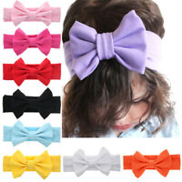 AU_ DI- Cute Toddler Girl Newborn Baby Bowknot Headband Elastic Hair Accessory N
