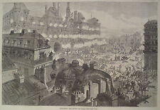 ATTACKING THE HOTEL DE VILLE PARIS FRANCE  HARPER'S WEEKLY 1871
