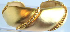 Vintage 18K Goldplated Hinge Cuff Bracelet Estate Jewelry Nice