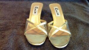 Women's NEW Renica Gold Sandal/Slide