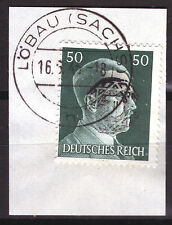 Löbau 19 Briefstück, 50 Pf. Hitler mit Aufdruck, gepr. Zierer BPP