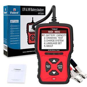 Vident iBT200 12V 24V Lead Acid Battery Tester Cranking Charging Bad Cell Test