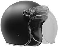 2020 GDM Renegade Open Face Helmet 3/4 vintage DOT Matte Black + SHIELD OPTIONS