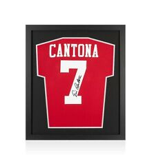 Framed Eric Cantona Signed Manchester United Shirt - Retro Number 7 - Compact
