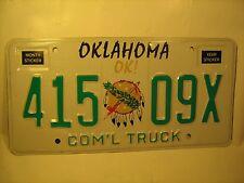 New OKLAHOMA License Plate circa 1990 COM'L TRUCK  #415 09X More # order [Y59F1]