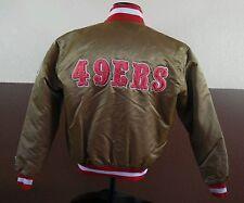 VTG STARTER NFL San Francisco 49ers Gold Satin Jacket Sz M