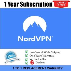 3 YEAR NORD VPN PREMIUM PRIVATE ACCOUNT NO DATA LIMIT AUTHORIZED SELLER 6 DEVICE