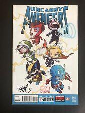 Uncanny Avengers 1 Skottie Young Variant Signed COA Marvel Comics VF/NM