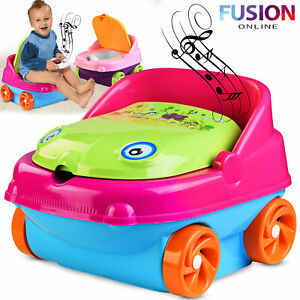 Kids Potty Training Chair Seat Toilet Trainer Toddler Baby Plastic with Music