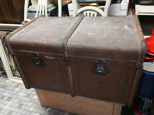 Überseekoffer Koffer Tisch Oldtimer alte Reise Truhe Kiste ANTIK um 1900