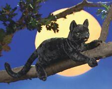 New Folkmanis Hand Puppet Soft Plush Toy Black Cat Kitten Stuffed Pet Animal