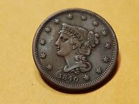 1840 U.S. Large Cent Small Date Extra Fine