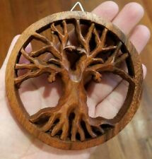 Tree of Life Wood Panel Carving Bali Life Universe Auspicious Spiritual Strength