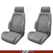 Adventurer 4x4 4WD Bucket Seat Pair 2 x Grey Leather ADR Approved Landcruiser
