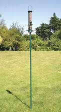Garden Bird Feeder Pole. Green. Pole Attaches to Bird Feeder giving extra height