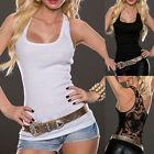 Sexy Women Casual Summer Lace Vest Top Sleeveless Shirt Blouse Tank Tops T-Shirt