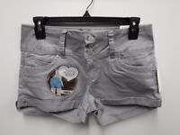 YMI Junior Womens Size 7 Arctic Wanna Betta Butt Rolled Stretch Shorts New