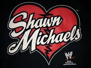 HBK Shawn Michaels WWE Black T-Shirt HEART WWF Steve & Barry's 100% Cotton XXL