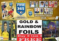 Panini  FIFA 365 Stickers GOLD & RAINBOW FOILS The Golden World Of Football 2019