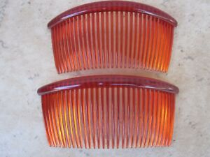 """Set of 2 Curved Back Side Comb 31 Teeth 4 1/2""""  Made in USA # 203 Good Hair Days"""