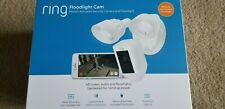 Ring Floodlight Camera Motion-Activated HD Security Cam Two-Way Talk White New