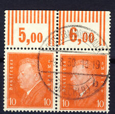 Deutsches Reich o Nr. 413 WOR - Reichspräsident - waag. PAAR - VOLLSTEMPEL