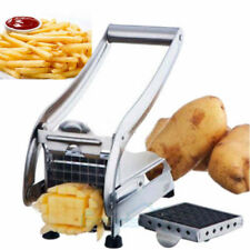2 Blades Potato Chipper French Fries Slicer Chip Cutter Chopper Maker Slice