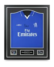 Gianfranco Zola Signed Shirt Chelsea Framed Autograph Jersey Memorabilia COA