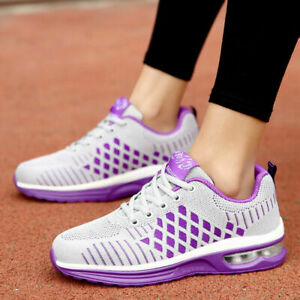 Women's Air Cushion Sneakers Casual Sports Breathable Running Shoes Tennis Gym