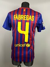BARCELONA 2011/2012 FABREGAS HOME SOCCER FOOTBALL SHIRT CAMISETA JERSEY SIZE S