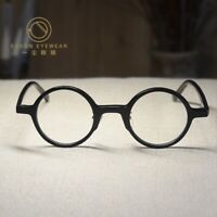 Vintage acetate John Lennon eyeglasses mens Hippie loop glasses RX black eyewear