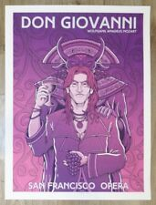 2017 Don Giovanni - San Francisco Opera Silkscreen Concert Poster by Matt Leunig