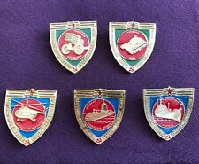 Vintage 1980s USSR Pin Badge Set 5px (Museum of Armed Forces)