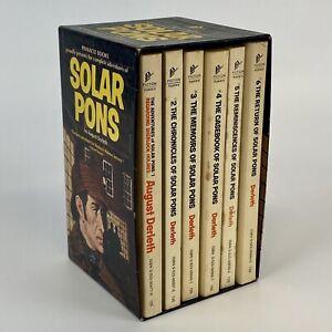 Vintage August Derleth Solar Pons 1-6 1970s