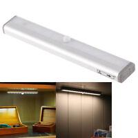 Wireless Battery Powered PIR Motion Sensor 10 LED Night Light Lamp Wall Wardrobe