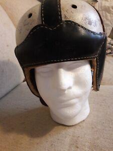 Original 1940s Harry Gilmer Signature  Model Dubow Leather Football Helmet